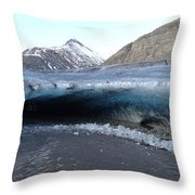 Iceland - Glacier Ice Cave 'entrance' #1 Throw Pillow