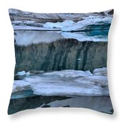 Glacier Iceberg Panorama Throw Pillow