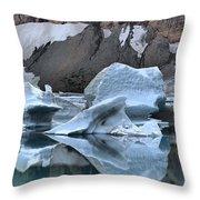 Glacier Iceberg Reflections Throw Pillow