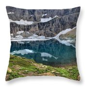 Glacier Icebergs Throw Pillow