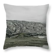 Glacier In Iceland Throw Pillow