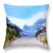 A Glacier In Mt. Rainier Throw Pillow