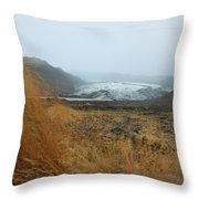 Glacier In The Distance Throw Pillow