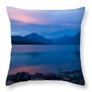 Glacier - Lake Mcdonald Dawn Throw Pillow