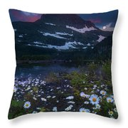 Glacier National Park At Dawn Throw Pillow