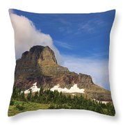 Glacier National Park At Logan Pass Throw Pillow