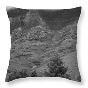 Glacier National Park Montana Vertical Throw Pillow