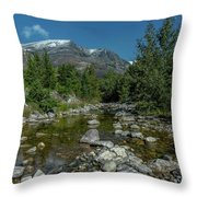 Glacier National Park-st Mary's River Throw Pillow