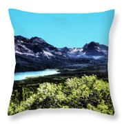Glacier National Park Views Panorama No. 01 Throw Pillow