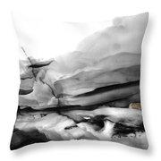 Glacier Nude Throw Pillow by Wayne King