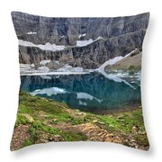 Glacier Paradise Throw Pillow