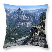 Glacier Point Panorama - Yosemite Valley Throw Pillow
