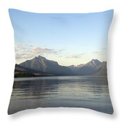 Glacier Reflections 3 Throw Pillow