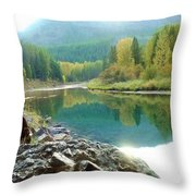 Glacier Reflections Throw Pillow