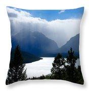 Glacier Showers Throw Pillow