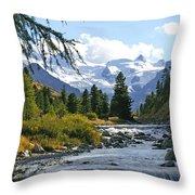 Glacier Stream Throw Pillow