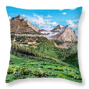 Glacier Summer Throw Pillow