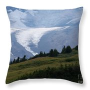 Glacier Tongue Scours The Valley Far Below Throw Pillow