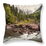 Glacier Waterfall Throw Pillow