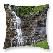 Glacier Waterfalls Throw Pillow