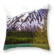 Glacier Waters Throw Pillow