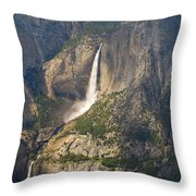 Glacierpoint Yosemitefalls Throw Pillow