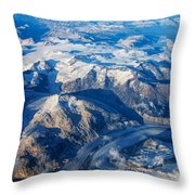 Glaciers In The Coast Range British Columbia Canada Throw Pillow by Mary Lee Dereske
