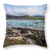 Glacier, Vatnajokull National Park, Iceland Throw Pillow