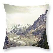 Glacierway Throw Pillow