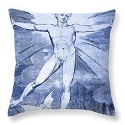 Glad Day By William Blake Throw Pillow