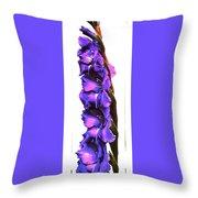 Glad I'm Purple Throw Pillow