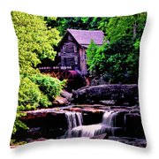 Glade Creek Grist Mill 004 Throw Pillow