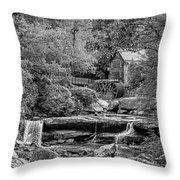 Glade Creek Grist Mill 3 Bw Throw Pillow