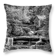 Glade Creek Grist Mill 3 - Paint 2 Bw Throw Pillow