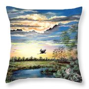 Glades  Afterglow Throw Pillow