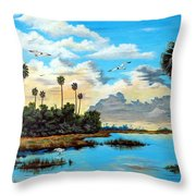 Glades Oasis Throw Pillow