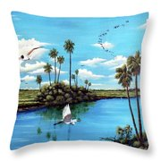 Glades Shark River Slough Throw Pillow