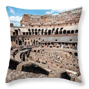 Gladiators And Christians Throw Pillow