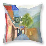 Gladiola Girls Throw Pillow