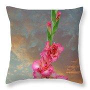 Gladiola Sunset Throw Pillow