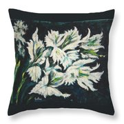Gladioli Throw Pillow