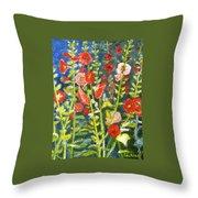 Gladiolus, 11x14, Oil, '07 Throw Pillow