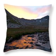 Gladstone Peak And Mount Wilson Sunrise Landscape Throw Pillow