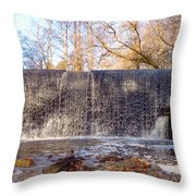 Gladwyne - Dove Lake Waterfall Panorama Throw Pillow