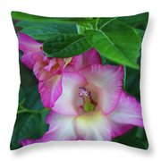 Gladys Blooms In A Blueberry Bush Throw Pillow