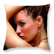 Glam Girl Throw Pillow