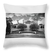 Glamorgan Castle Bw. Throw Pillow