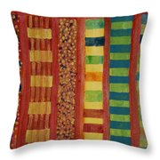 Glamorous Beach Cabins Under Squared Sky Throw Pillow