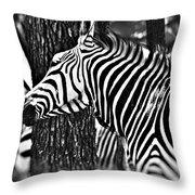 Glamorous In Black And White Throw Pillow