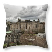 Glasgow Cathedral And Victoria Infirmary Throw Pillow